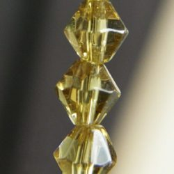 Pressed crystal bicone