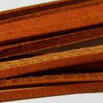 Real splitted leather thread, orange