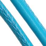 Sewn leather thread, blue, 5 mm