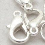 Delfin zár, 12 mm sötét ezüst