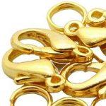 Delfin zár arany 15mm