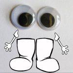 Kerek mozgó szemek, 6 mm