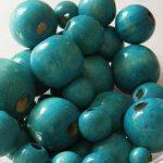 Vegyes méretű fagolyó csomag, színe: türkizkék