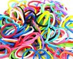 Unicoloured rubber ring, 100 pieces/ bag