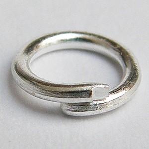 Szerelőkarika sötét ezüst 6mm