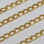 Ékszerlánc arany 2X3mm