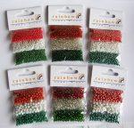 Gazdaságos nemzeti színű gyöngy csomag, 24 gr