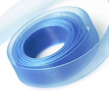 Organza szalag kapri kék