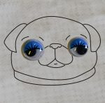 Pillás mozgó szemek, 6 mm