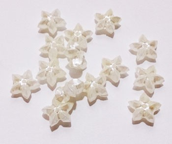 Miracle bead, economical pack, ecru flower, 10 mm,  1ft/ piece!!!