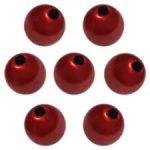 Teklagyöngy gazdaságos csomag ,selyemfényű piros, 14 mm, 8 Ft/db!