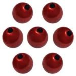 Miracle bead, economical pack, 14 mm, silk shine red, 8ft/ piece