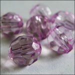 Plastic faceted bead