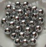 Műanyag tekla, ezüst,4 mm