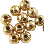 Plastic miracle bead, gold, 8 mm