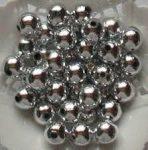 Műanyag tekla, ezüst,8 mm