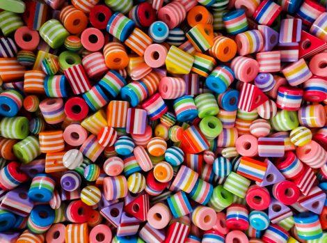 """""""Selyem cukor"""" müanyag gyerek gyöngy mix"""