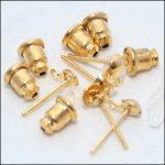 Fülbevalóalapok lógó bővítményhez arany