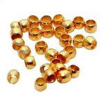 Stopper, gömbölyű arany 2mm