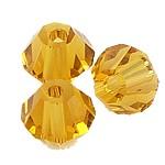 I.o. keleti kristály bikon, 3x4 mm , világos topáz