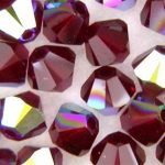 Svarowski imitáció, kristály bikon, 4 mm