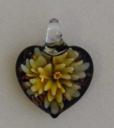 Glass pendant, heart