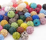 8 mm, crystals in colourful base