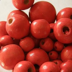 Vegyes méretű fagolyó csomag, színe: piros