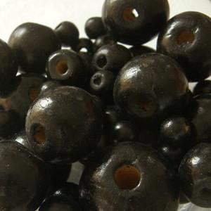 Vegyes méretű fagolyó csomag, színe: fekete