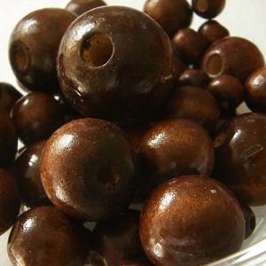 Vegyes méretű fagolyó csomag, színe: sötét barna