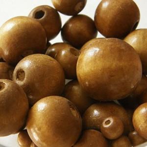 Vegyes méretű fagolyó csomag, színe: közép barna